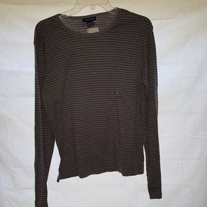The limited grey & black striped shirt